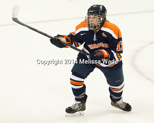 Larissa Martyniuk (SU - 17) - The Boston College Eagles defeated the visiting Syracuse University Orange 10-2 on Saturday, October 4, 2014, at Kelley Rink in Conte Forum in Chestnut Hill, Massachusetts.