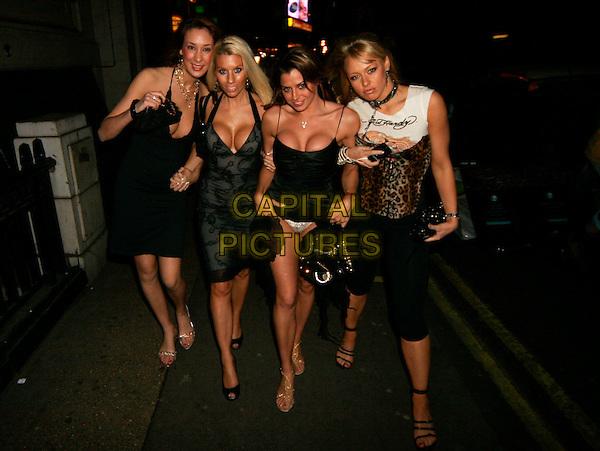 LOUISE GLOVER.Leaving Astor Bar & Grill, London, UK..February 15th, 2006.Ref: SW.full length black dress flashing underwear knickers.www.capitalpictures.com.sales@capitalpictures.com.©Capital Pictures.