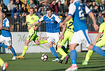 FK Trakai v St Johnstone&hellip;06.07.17&hellip; Europa League 1st Qualifying Round 2nd Leg, Vilnius, Lithuania.<br />Blair Alston is tackled by Mykhaylo Shyshka<br />Picture by Graeme Hart.<br />Copyright Perthshire Picture Agency<br />Tel: 01738 623350  Mobile: 07990 594431