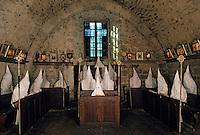 Europe/France/Auverne/63/Puy-de-Dôme/Marsac-en-Livradois: La chapelle-musée des Pénitents Blancs du Livradois - Détail intérieur
