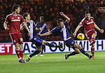 Stephen Gleeson of Birmingham City reaching to stop Stewart Downing of Middlesbroughs shot - Sky Bet Championship - Middlesbrough vs Birmingham City - Riverside Stadium - Middlesbrough - England - 12th of December 2015 - Picture Jamie Tyerman/Sportimage