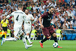 Real Madrid Sergio Ramos and A.C. Milan Gonzalo Higuain during Santiago Bernabeu Trophy match at Santiago Bernabeu Stadium in Madrid, Spain. August 11, 2018. (ALTERPHOTOS/Borja B.Hojas)