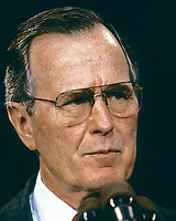 ***FILE PHOTO*** George H.W. Bush Has Passed Away<br /> Washington, DC. 1990<br /> President George H.W. Bush portrait 1990.<br /> <br /> <br /> CAP/MPI/MRN<br /> &copy;MRN/MPI/Capital Pictures