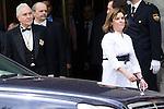 18.06.2012. Prince Felipe of Spain and the president of Supreme Court Carlos Divar attend the bicentennial of the creation of the Supreme Court in at Supreme Court. In the image Carlos Divar and Soraya Saenz de Santamaria (Alterphotos/Marta Gonzalez)