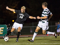 The number 5 ranked Charlotte 49ers play the University of South Carolina Gamecocks at Transamerica field in Charlotte.  Charlotte won 3-2 in the second overtime.  Jason Chapman (12), Donnie Smith (9)
