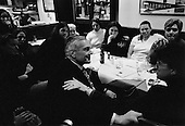 Hanover, New Hampshire.USA.January 25, 2004..Democratic presidential candidate General Wesley Clark greets people in restaurant in hopes of attracking votes.