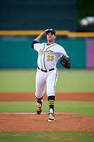 Montgomery Biscuits starting pitcher Yonny Chirinos (25) delivers a pitch during a game against the Mississippi Braves on April 26, 2017 at Montgomery Riverwalk Stadium in Montgomery, Alabama.  Montgomery defeated Mississippi 5-2.  (Mike Janes/Four Seam Images)