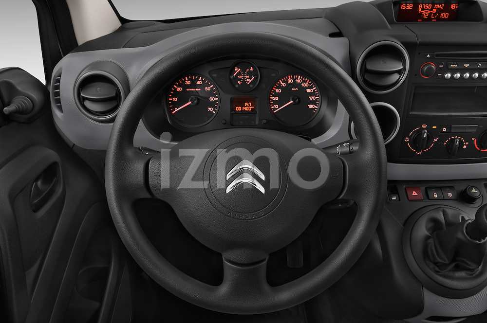 Car pictures of steering wheel view of a 2015 Citroen BERLINGO 1.6 VT 4 Door Car Van Steering Wheel