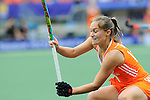 The Hague, Netherlands, June 14: Kelly Jonker #10 of The Netherlands defends during the match during the field hockey gold medal match (Women) between Australia and The Netherlands on June 14, 2014 during the World Cup 2014 at Kyocera Stadium in The Hague, Netherlands. Final score 2-0 (2-0)  (Photo by Dirk Markgraf / www.265-images.com) *** Local caption ***