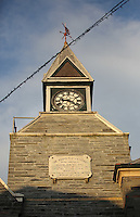 Pictured: The clock tower of the Guildhall<br /> Re: The town of Cardigan in west Wales will be temporarily renamed Jumper tomorrow (Thursday).
