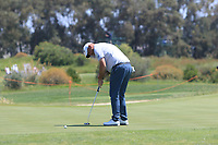 Thomas Bjorn (DEN) on the 8th green during Round 3 of the Rocco Forte Sicilian Open 2018 played at Verdura Resort, Agrigento, Sicily, Italy on Saturday 12th May 2018.<br /> Picture:  Thos Caffrey / www.golffile.ie<br /> <br /> All photo usage must carry mandatory copyright credit (&copy; Golffile | Thos Caffrey)