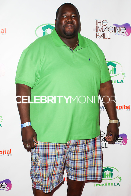 WEST HOLLYWOOD, CA, USA - AUGUST 06: Quinton Aaron at The Imagine Ball Presented By John Terzian & Randall Kaplan Benefiting Imagine LA held at the House of Blues Sunset Strip on August 6, 2014 in West Hollywood, California, United States. (Photo by Celebrity Monitor)