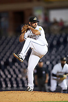 Akron RubberDucks relief pitcher Casey Weathers (41) during a game against the Richmond Flying Squirrels on July 26, 2016 at Canal Park in Akron, Ohio .  Richmond defeated Akron 10-4.  (Mike Janes/Four Seam Images)