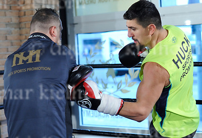 March 16-17,Legends Fight &amp; Box Academy,Berlin,Germany<br /> Media day before the fight of Marco Huck vs Mairis Briedis for regular or interim WBC World cruiserweight title and<br /> International Boxing Organization World cruiserweight title<br /> Marco Huck trains with his new coach Oktay Urkal,l
