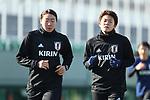(L-R)  Mamiko Matsumoto, Ayaka Yamashita (JPN), JANUARY 16, 2018 -  Football / Soccer : <br /> Japan women's national team training camp <br /> in Tokyo, Japan. <br /> (Photo by Yohei Osada/AFLO)