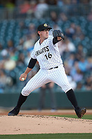 Charlotte Knights starting pitcher Chris Beck (16) in action against the Scranton/Wilkes-Barre RailRiders at BB&T BallPark on April 12, 2018 in Charlotte, North Carolina.  The RailRiders defeated the Knights 11-1.  (Brian Westerholt/Four Seam Images)