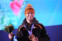 OLYMPICS: SOCHI: Medal Plaza, 15-02-2014, Short Track, Men's 1000m, Sjinkie Knegt (NED), ©photo Martin de Jong