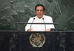 His Excellency Maithripala Sirisena, President of the Democratic Socialist Republic of Sri Lanka  <br /> General Assembly Seventieth session 9th plenary meeting: High-level plenary meeting of the (6th meeting)