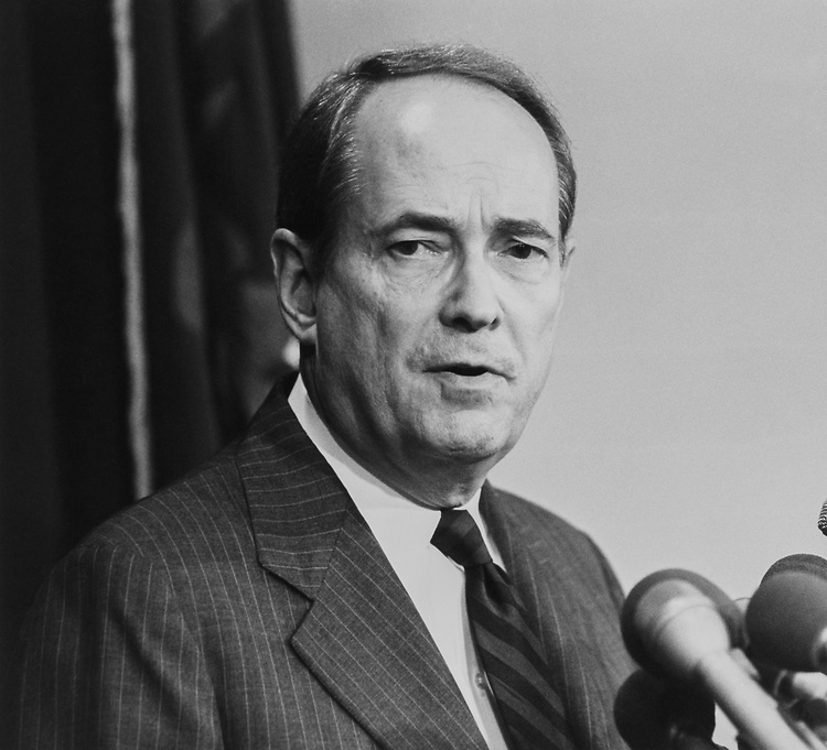 Former Attorney General Dick Thornburgh on Aug. 15, 1991. (Photo by Laura Patterson/CQ Roll Call via Getty Images)