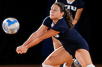 13 September 2008:  FIU defensive specialist Angelina Colon (4) warms up prior to the FIU 3-0 (25-11, 25-19, 25-19) victory over Penn in the 2008 FIU Invitational tournament at Panther Arena in Miami, Florida.