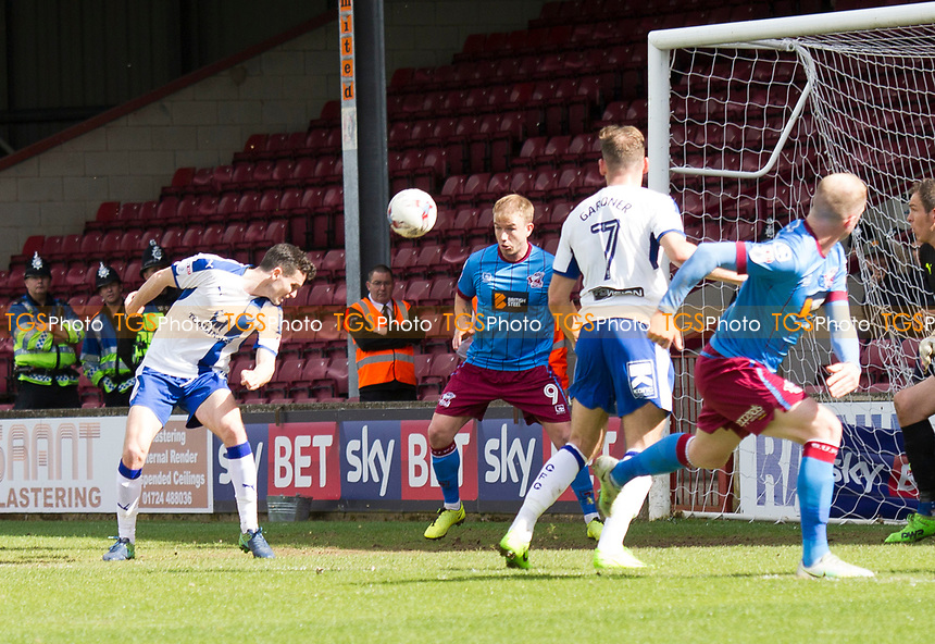 Own goal from Paul McGinn (Chesterfield) during Scunthorpe United vs Chesterfield, Sky Bet EFL League 1 Football at Glanford Park on 17th April 2017