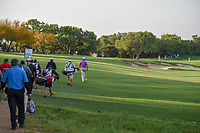 Graeme McDowell (NIR) leads the pack down 11 during day 2 of the Valero Texas Open, at the TPC San Antonio Oaks Course, San Antonio, Texas, USA. 4/5/2019.<br /> Picture: Golffile | Ken Murray<br /> <br /> <br /> All photo usage must carry mandatory copyright credit (&copy; Golffile | Ken Murray)