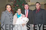 Baby Katie Healy with her parents Phil & Deidre Healy, Listowel  and god parents Karen Healy & Paul McAuliffe who was christened in St. Mary's Church, Listowel on Saturday last by Canon Declan O'Connor and afterwards at the Listowel Arms Hotel.