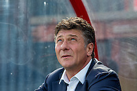 Watford Manager Walter Mazzarri looks to the heavens as he takes charge of his first match during the Pre Season Friendly match between Woking and Watford at the Kingfield Stadium, Woking, England on 10 July 2016. Photo by Andy Rowland.