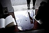 Warsaw 11/04/2010 Poland<br /> People mourning the tragic death of President Lech Kaczynski and his wife.<br /> on pictures: Book of condolence.<br /> Photo: Adam Lach / Napo Images for The New York Times<br /> <br /> Zaloba po tragicznej smierci Prezydenta Lecha Kaczynskiego i jego malzonki.<br /> na zdjeciu: ksiega kondolencyjna.<br /> Fot: Adam Lach / Napo Images for The New York Times