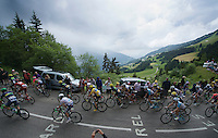 1st peloton with race leaders Froome, Mollema &amp; Yates, followed closely by later stage winner Romain Bardet, up the Mont&eacute;e de Bisanne (HC/1723m/12.4km/8.2%)<br /> <br /> Stage 19:  Albertville &rsaquo; Saint-Gervais /Mont Blanc (146km)<br /> 103rd Tour de France 2016