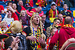 Solna 2014-06-01 Fotboll Landskamp , Sverige - Belgien :  <br /> Belgisk supporter<br /> (Photo: Kenta J&ouml;nsson) Keywords:  Sweden Sverige Friends Arena Belgium Belgien supporter fans publik supporters