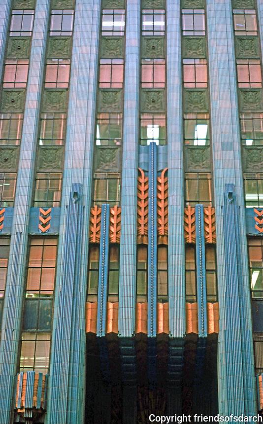 Los Angeles: Eastern Building Facade, 849 S. Broadway, 1929. Claude Beelman. Photo '89.