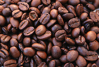 Cibi e bevande. Food and beverages..Chicchi di caffè. Coffee beans....