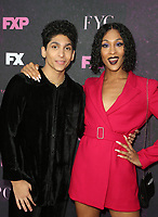 """WEST HOLLYWOOD, CA - AUGUST 9: Angel Bismark Curiel, Mj Rodriguez, at Red Carpet Event For FX's """"Pose"""" at Pacific Design Center in West Hollywood, California on August 9, 2019. <br /> CAP/MPIFS<br /> ©MPIFS/Capital Pictures"""