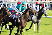 14th September 2017, Doncaster Racecourse, Doncaster, England; The William Hill St Ledger Festival, DFS Ladies Day; Andrea Atzeni on Euginio wins the Crownhotel-bawtry com Handicap Stakes