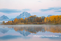 67545-09220 Sunrise at Oxbow Bend in fall; Grand Teton National Park; WY