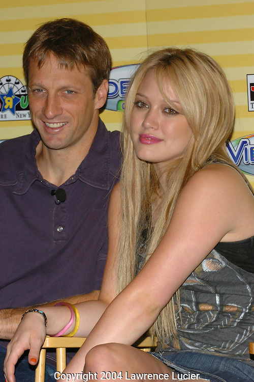 Tony Hawk and Hilary Duff