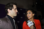 Sam Witwer & Meaghan Rath - Being Human at the Syfy Upfront 2012 on April 24, 2012 at the American Museum of Natural History, New York City  (Photo by Sue Coflin/Max Photos)