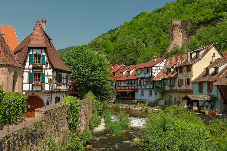 Albert Schweitzer's home town of Kaysersberg is a cute mix of 15th century homes with half timbered buildings lining the small river.