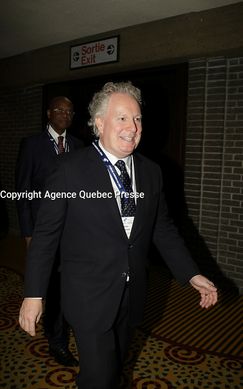 Jean Charest attend the 22nd edition of the Conference of Montreal, held June 13 to 15, 2016<br /> <br /> PHOTO : Pierre Roussel -  Agence Quebec Presse