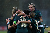 Daniela Sabatino of Italy celebrates with team mate after scoring a goal <br /> Castel di Sangro 12-11-2019 Stadio Teofolo Patini <br /> Football UEFA Women's EURO 2021 <br /> Qualifying round - Group B <br /> Italy - Malta<br /> Photo Cesare Purini / Insidefoto