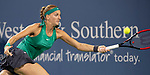 August  14, 2018:  Petra Kvitova (CZE) defeated Serena Williams (USA) 6-3, 2-6, 6-3 at the Western & Southern Open being played at Lindner Family Tennis Center in Mason, Ohio. ©Leslie Billman/Tennisclix/CSM