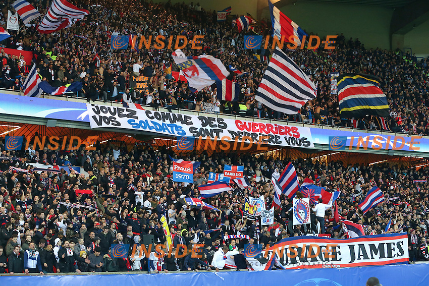 supporters Parisiens Tifosi PSG <br /> Parigi 14-02-2017 Parco dei Principi <br /> Paris Saint Germain - Barcellona Champions League 2016/2017 <br /> Foto Gwendoline Le Goff / Panoramic / Insidefoto