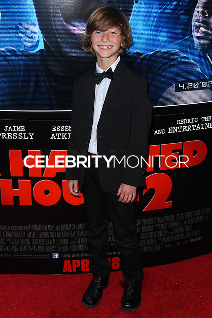 """LOS ANGELES, CA, USA - APRIL 16: Steele Stebbins at the Los Angeles Premiere Of Open Road Films' """"A Haunted House 2"""" held at Regal Cinemas L.A. Live on April 16, 2014 in Los Angeles, California, United States. (Photo by Xavier Collin/Celebrity Monitor)"""