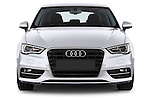 Straight front view of a 2013 - 2014 Audi A3 Ambition 3-Door Hatchback.