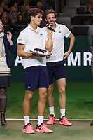 Rotterdam, The Netherlands, 18 Februari, 2018, ABNAMRO World Tennis Tournament, Ahoy, Doubles final,Winners  Pierre-Hugues Herbert (FRA) / Nicolas Mahut (FRA), <br />