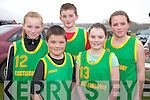 Enjoying the COunty Finals of the Community Games cross country in Beaufort on Sunday were Rachel McKenna, Sean McKenna, Eoghan O'Toole, Eimear Dineen and Blaithnaid O'Toole, Castlegregory.