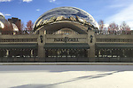"Ice begins forming atop the McCormick Tribune Plaza Ice Rink on Michigan Ave. Friday, Nov. 11, 2016, in the shadow of Chicago's iconic ""Cloud Gate"" sculpture, affectionately known as ""The Bean"". (DePaul University/Jamie Moncrief)"