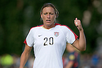 Abby Wambach during the match against Sweden, Landskamp, Sweden, July 5th, 2008.