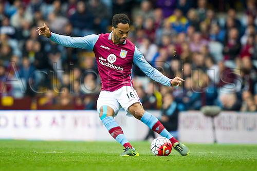 03.10.2015. Birmingham, England. Barclays Premier League. Aston Villa versus Stoke. Joleon Lescott of Aston Villa on the ball.